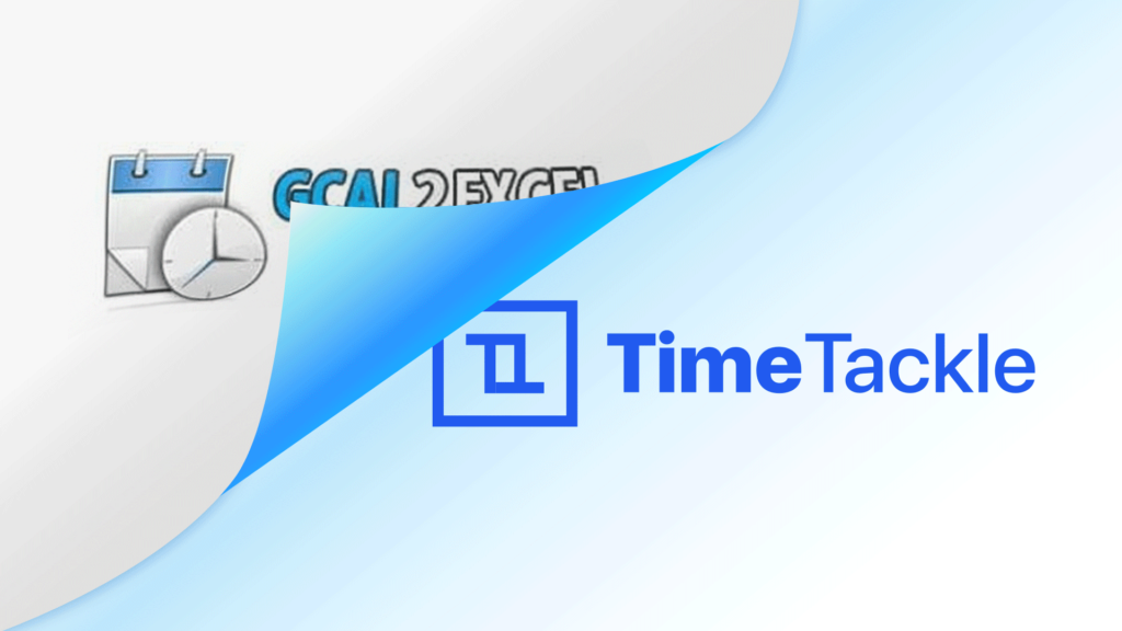 Gcal2Excel is now TimeTackle