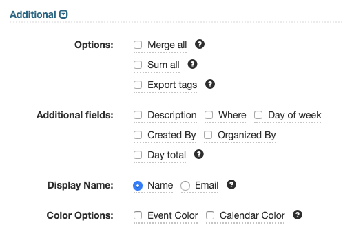 Additional Export Options