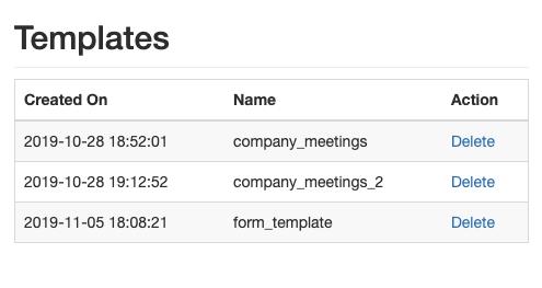 Export Calendar Templates