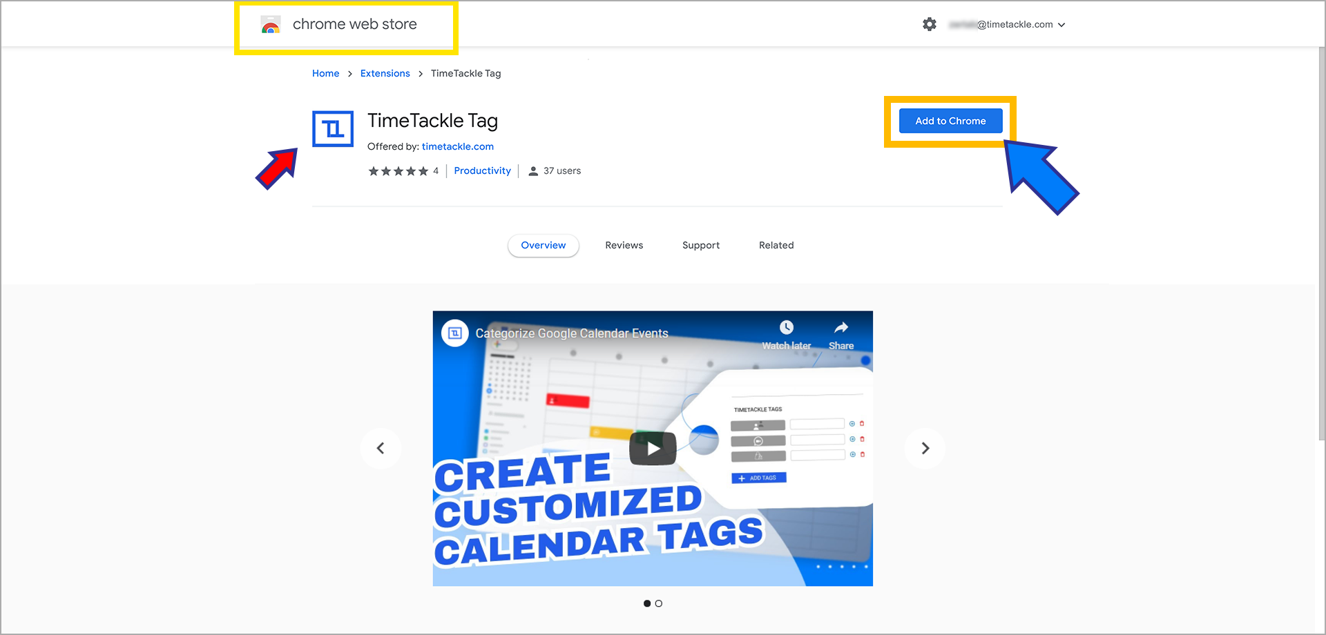 TimeTackle Chrome Extension