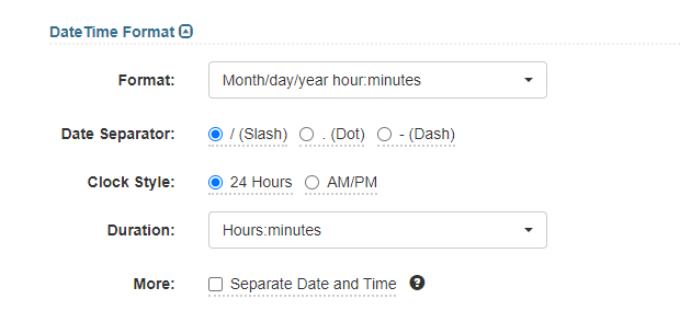 Date time format