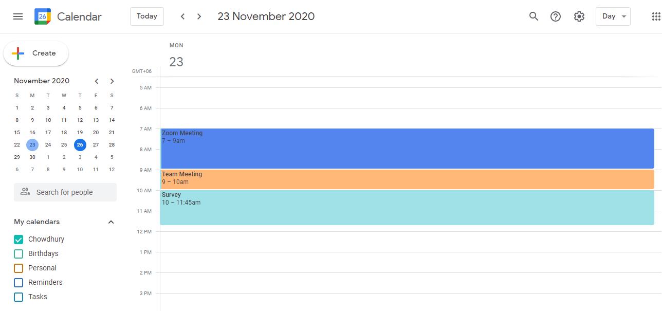 open google calendar