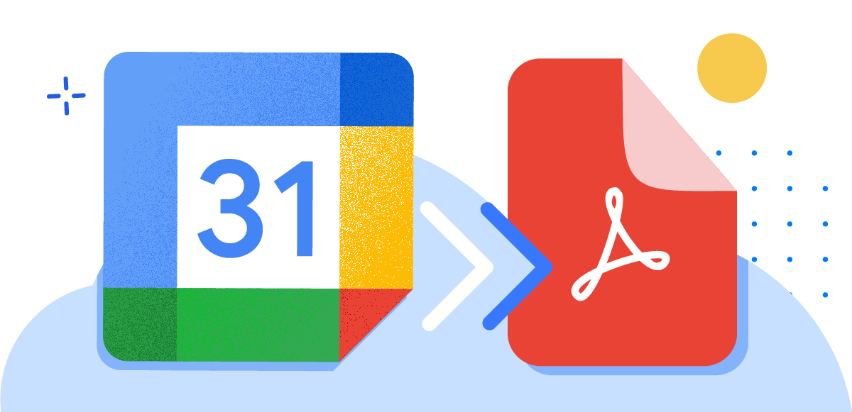Export Google Calendar to PDF