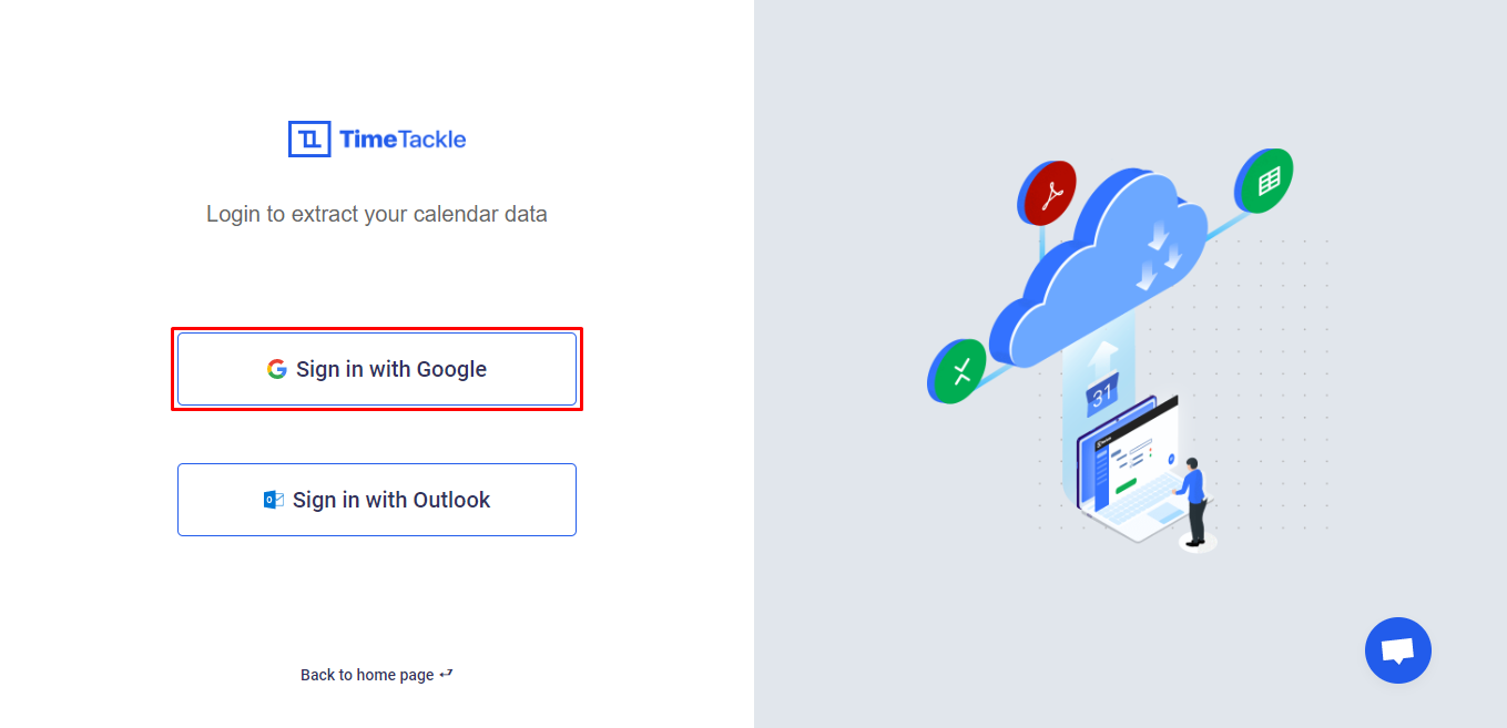 Log in with your Google account
