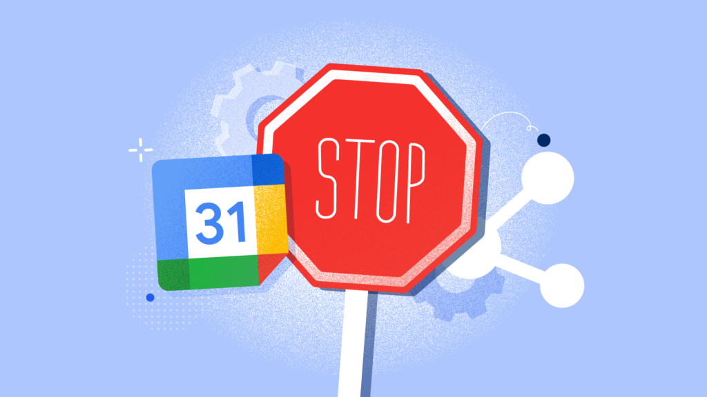How to stop sharing google calendar