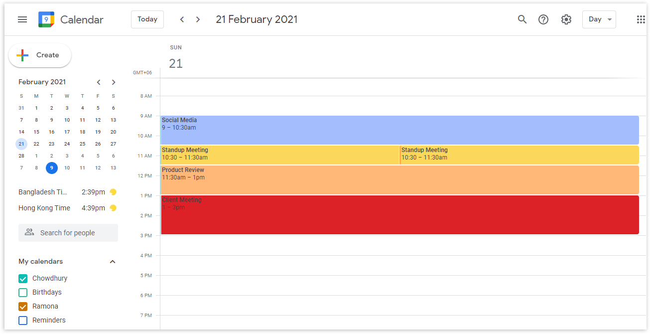 Go to your Google calendar from your Google account by clicking on the Google Apps icon on the top right.
