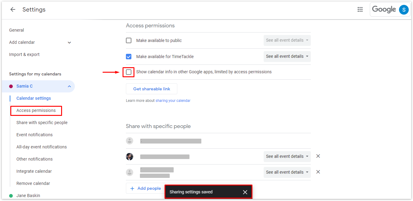 Under settings for my calendars, click on Access permissions and under this, uncheck the box beside Show calendar info in other Google apps, limited by access permissions. Once you complete these steps, others who can view your calendar will not be able to receive any notice from other apps when you're not available.