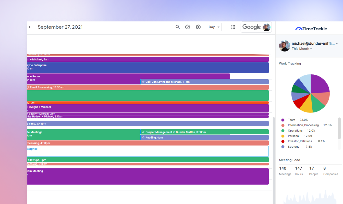 Tag and analyze your calendar events