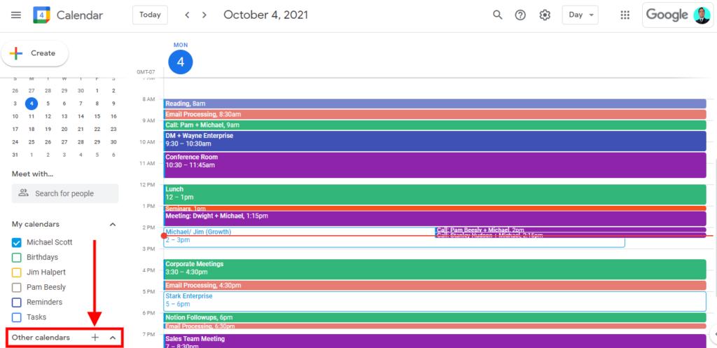 how to merge multiple google calendar, how to create a new google calendar