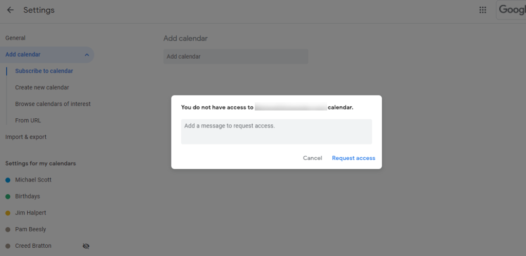 how to merge multiple google calendar, Select the option subscribe to calendar