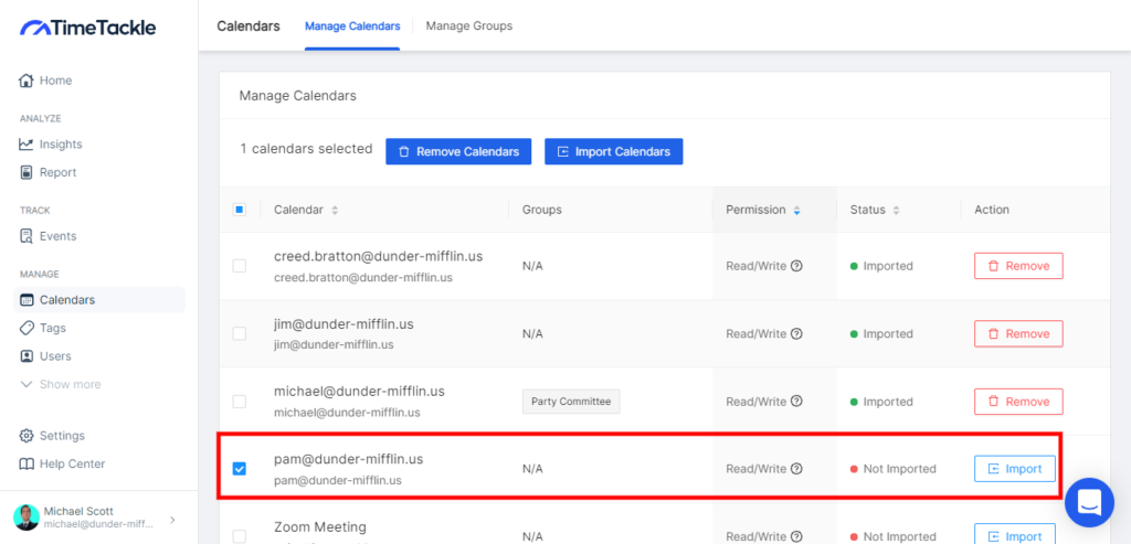 how to merge multiple google calnedar, Exporting Multiple Google Calendars With TimeTackle ; Select the calendar/s you want to export.