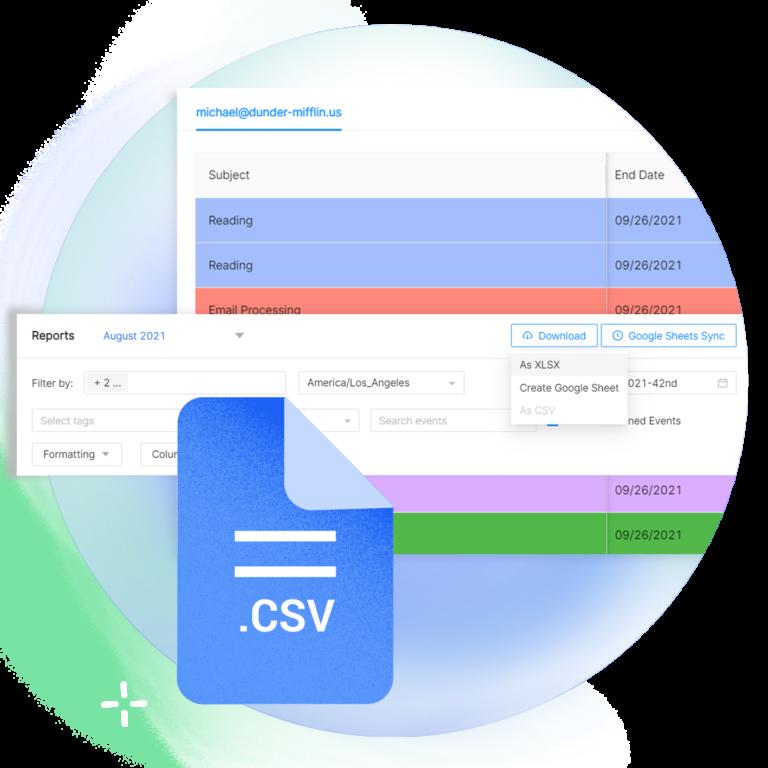 Export google calendar to CSV