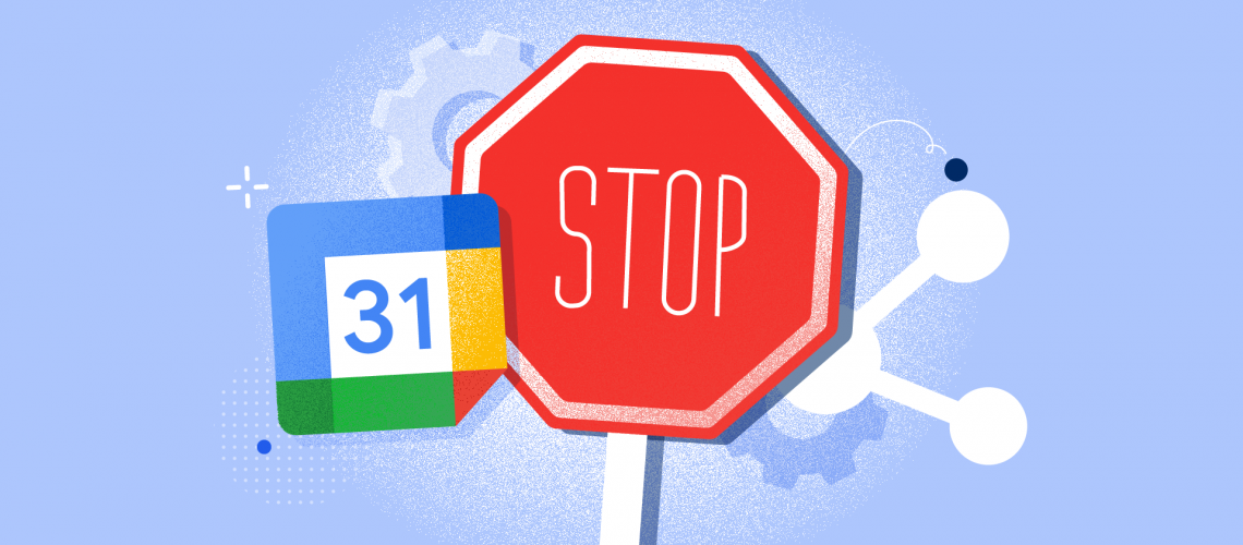How to stop sharing google calendar
